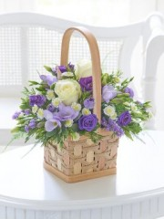 Scented Lilac and White Basket