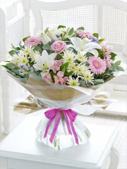 Happy Birthday Country Garden Hand-tied with Happy Birthday Balloon
