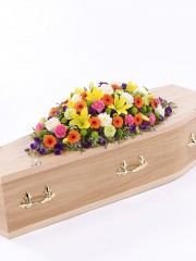 Vibrant Casket Spray
